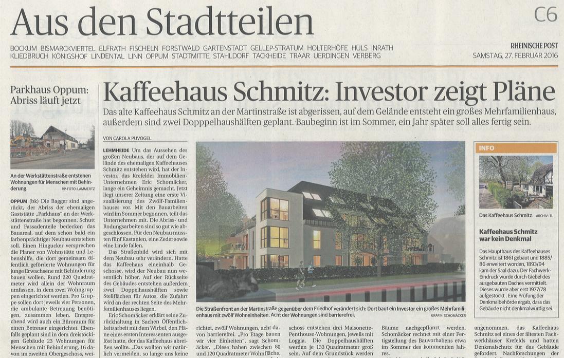 """Bild von """"Kaffeehaus Schmitz: Investor zeigt Pläne"""""""
