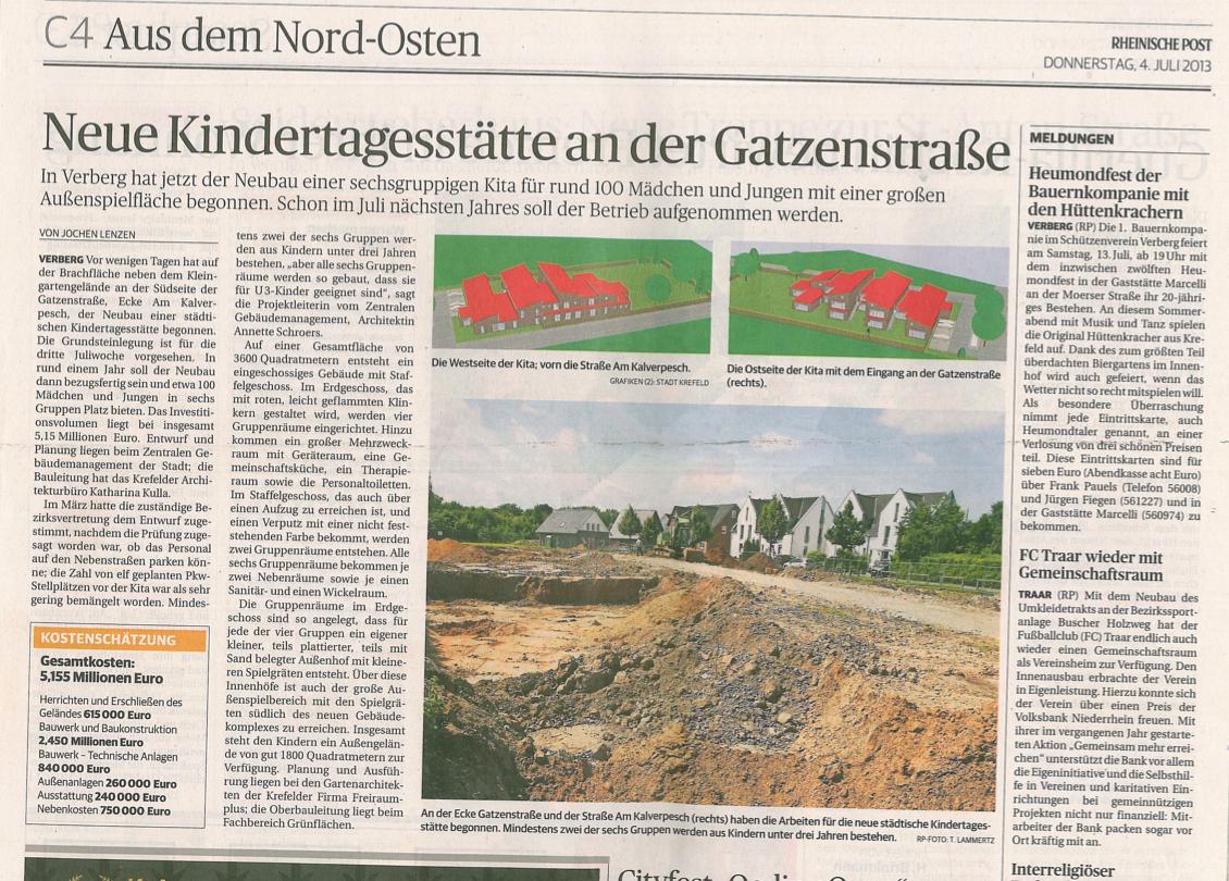 Bild von Neue Kindertagesstätte an der Gatzenstrasse