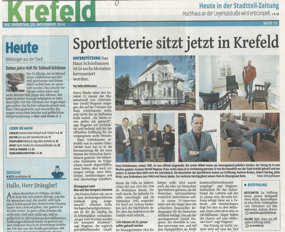 Bild von Sportlotterie sitzt jetzt in Krefeld